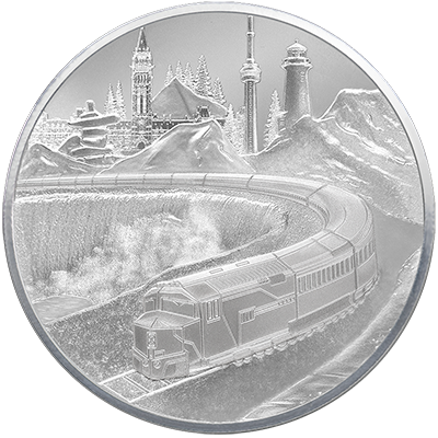 A picture of a 5 oz. TD Coast-to-Coast Silver Round